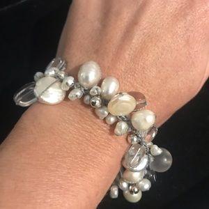 Silpada Silver, Crystal & Pearl Bracelet